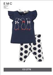 SET T-SHIRT-LEGGING POUA BABY GIRL EMC