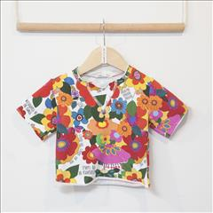 T-SHIRT K/M FLORAL DAISY TWO IN A CASTLE