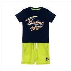 SET T-SHIRT SURFING-SHORT COTTON BABY BOY SPRINT
