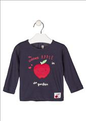 T-SHIRT M/M NAVY WITH APPLE BABBY GIRL LOSAN