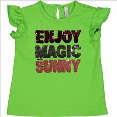 T-SHIRT K/M MAGIC SEQUINS BABY GIRL BIRBA