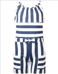 OVERALL SHORT STRIPPED 2CLRS GIRL ENERGIERS