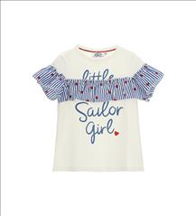 LONG SHIRT RUFFLE SAILING GIRL ORIG. MARINES