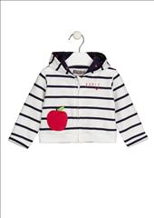 JACKET STRIPPED WITH APPLE BABY GIRL LOSAN