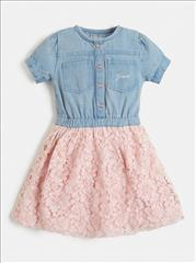 DRESS DENIM-PINK GIRL GUESS