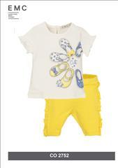 SET T-SHIRT-LEGGING YELLOW BABY GIRL EMC