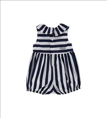 OVERALL SHORT STRIPPED WITH FLOWERS BABY GIRL ORIG.MARINES
