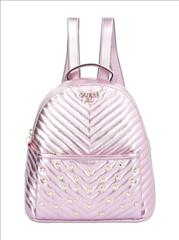 BACKPACK PINK METALIC GUESS