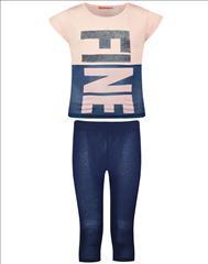 SET T-SHIRT-LEGGING COTTON FINE GIRL ENERGIERS