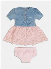 DRESS DENIM-PINK BABY GIRL GUESS