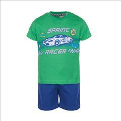 SET T-SHIRT-SHORT COTTON RACER 3CLRS BABY BOY S12M-5Y SPRINT