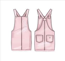 OVERALL PINK DENIM GIRL GUESS