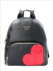 BACKPACK BLK HEART GUESS