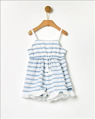 OVERALL SHORT RIGE LIGHT BLUE YELL-OH BABY