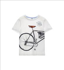 T-SHIRT BIKE K/M WHITE BOY ORIG.MARINES