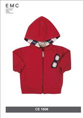 JACKET HOODIE RED SUNGLASSES IN THE POCKET BABY BOY EMC