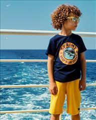 SET T-SHIRT-VERMOUDA COTTON DEEP BLUE BOY SPRINT