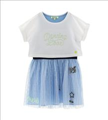 SET 2PCS DRESS-TOP GIRL ORIG.MARINES
