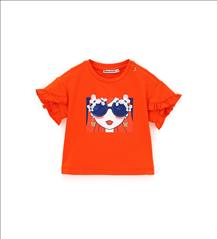 T-SHIRT GIRL SUNGLASSES ORANGE BABY GIRL ORIG.MARINES