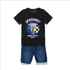 SET T-SHIRT-VERMOUDA COTTON DENIM LOOK BOY SPRINT S6-16