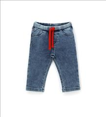 TROUSER DENIM SOFT RED DETAIL BABY BOY ORIG.MARINES