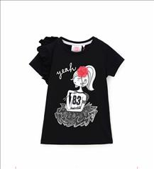 T-SHIRT K/M 2CLRS SWEET/GIRL GIRL ORIG.MARINES