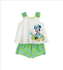 SET TOP-SHORT STRIPPED MINNIE BABY GIRL ORIG.MARINES