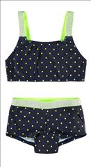 SET BIKINI DOTS FLUO-GLITTER DETAIL NAME IT