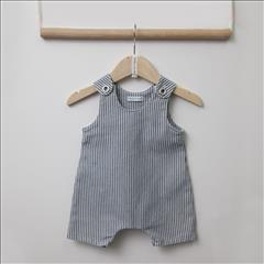 OVERALL DENIM STRIPPED BABY BOY TWO IN A CASTLE