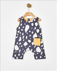 OVERALL SHORT PRINTED ALLOVER YELL-OH