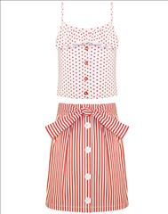 SET TOP POUA-SKIRT STRIPPED GIRL ENERGIERS