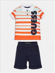 SET T-SHIRT POLO STRIPPED-SHORT BABY BOY GUESS