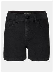 SHORT HIGH WAIST BLACK DENIM GIRL GUESS