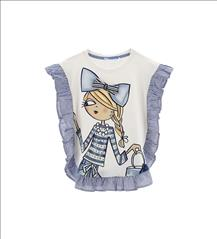 BLOUSE VOLAN GIRL STRIPES ORIG. MARINES