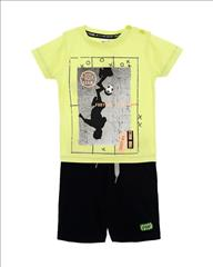 SET T-SHIRT FLUO FOOTBALL-SHORT BOY SPRINT