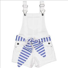 OVERALL SHORT WHT WITH BELT GIRL TRYBEYOND