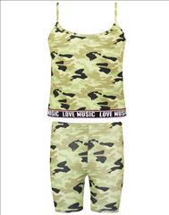 SET ATHLETIC TOP-LEGGING SHORT CAMUFLAGE GIRL ENERGIERS