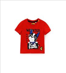 T-SHIRT K/M 2CLRS DOG BABY BOY ORIG.MARINES