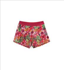 SHORT FLORAL WITH SEQUINS GIRL ORIG.MARINES