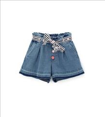 SHORT SOFT DENIM GIRL ORIG.MARINES