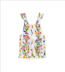 OVERALL SHORT FLORAL BABY GIRL ORIG.MARINES