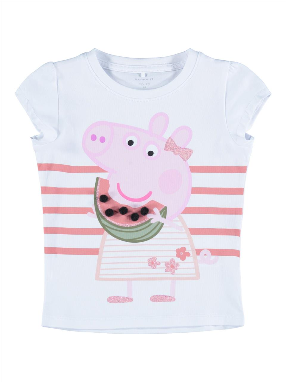 T-SHIRT 3COL PEPPA THE PIG BY NAME IT
