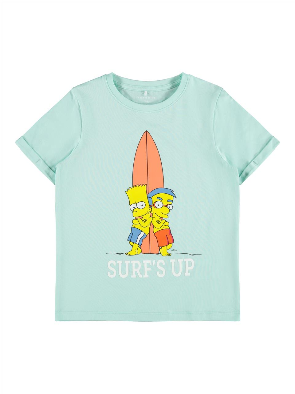 T-SHIRT SIMPSONS 2COL. NAME IT