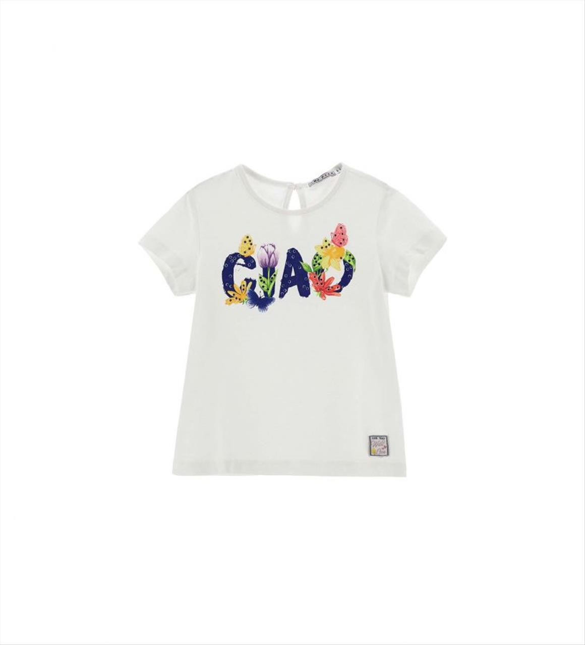 T-SHIRT K/M CIAO OR. MARINES BABY GIRL