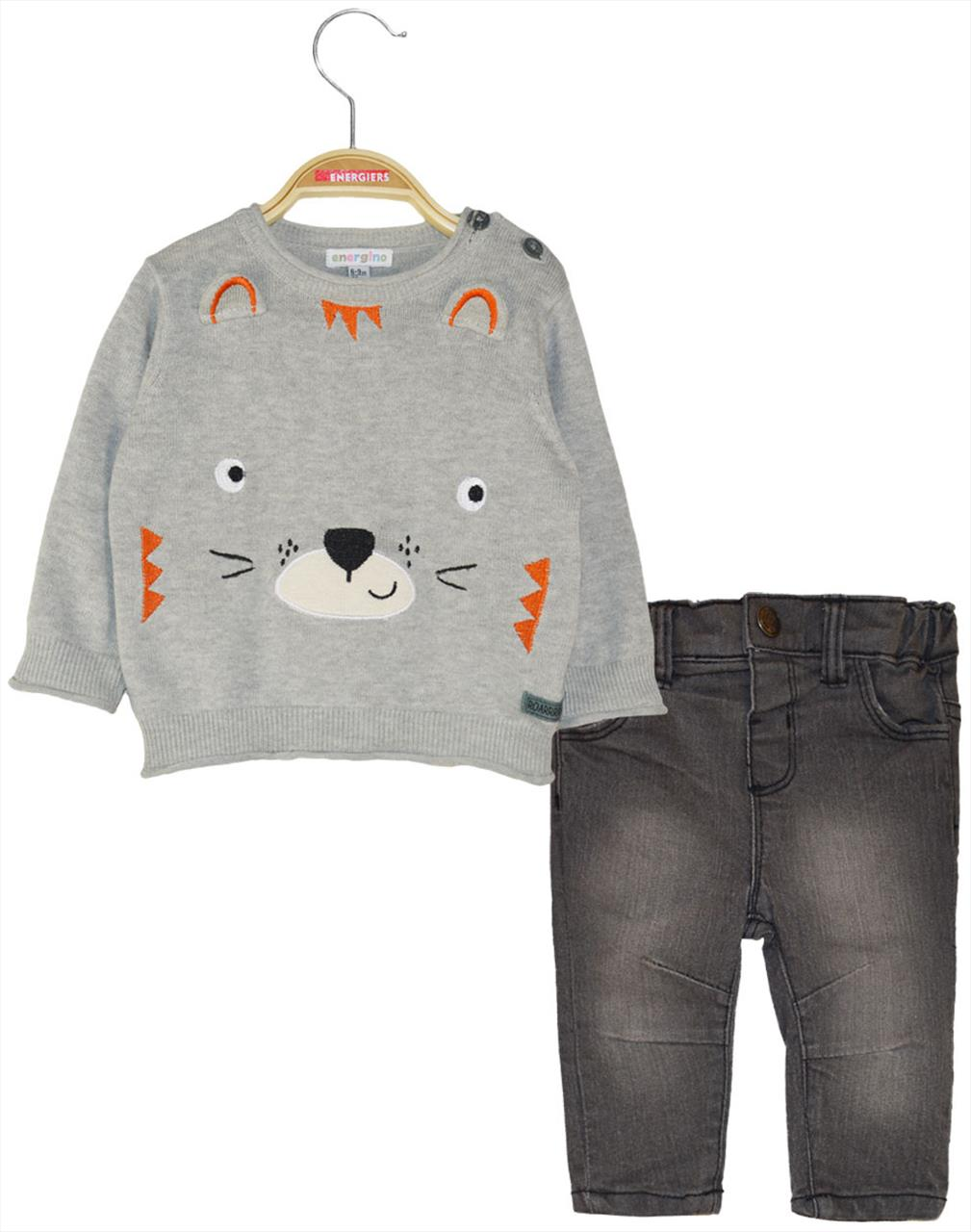 SET GREY PANT-POULOVER BEAR BABY ENERGIERS