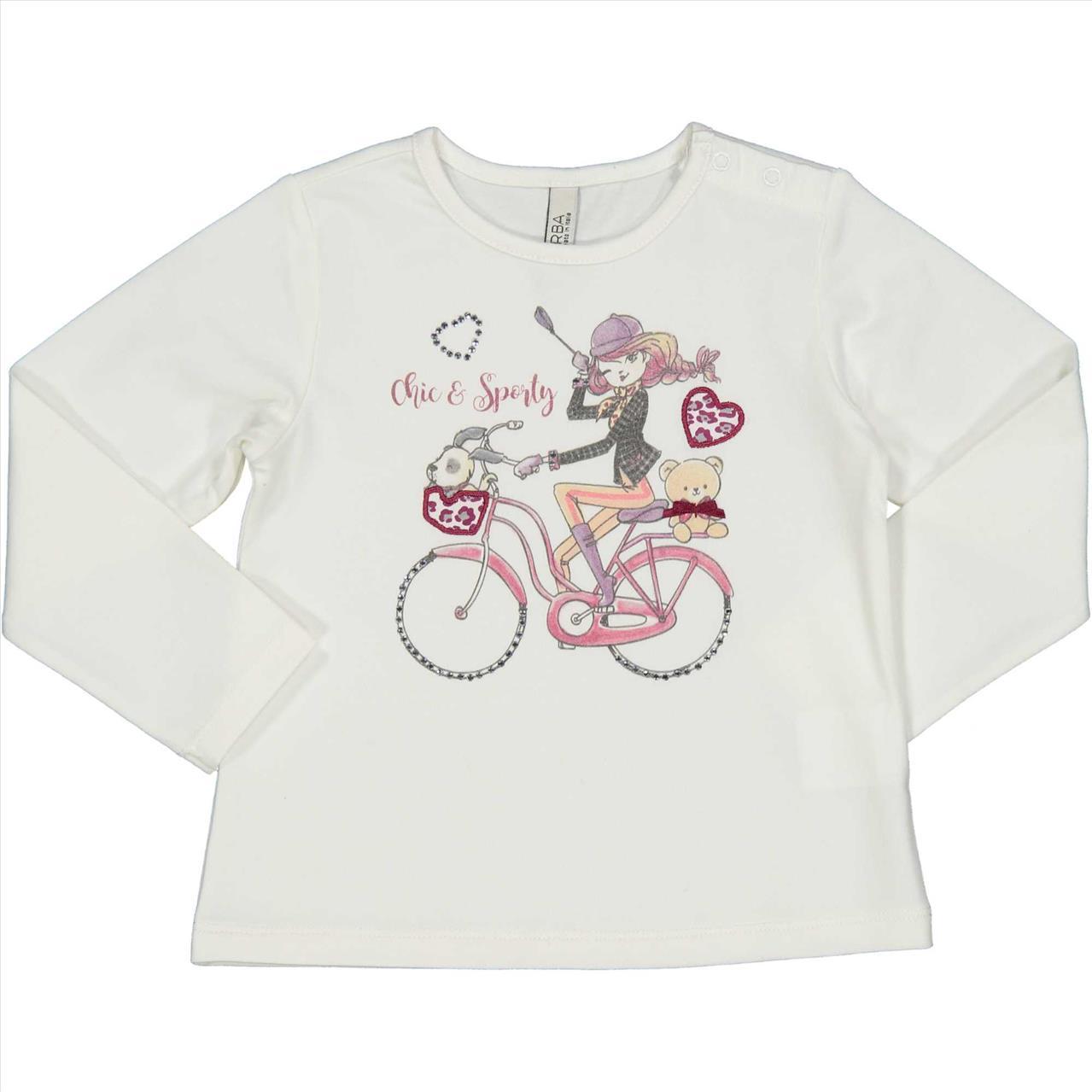 ΜΠΛΟΥΖΑ Μ/Μ BICYCLE BABY GIRL BY BIRBA