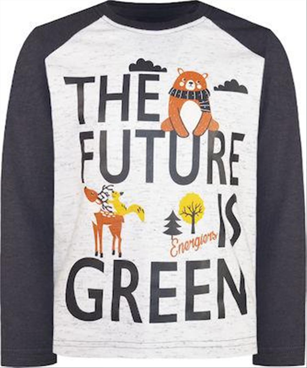T-SHIRT M/M *THE FUTURE IS GREEN BABY BOY BY ENERGIERS
