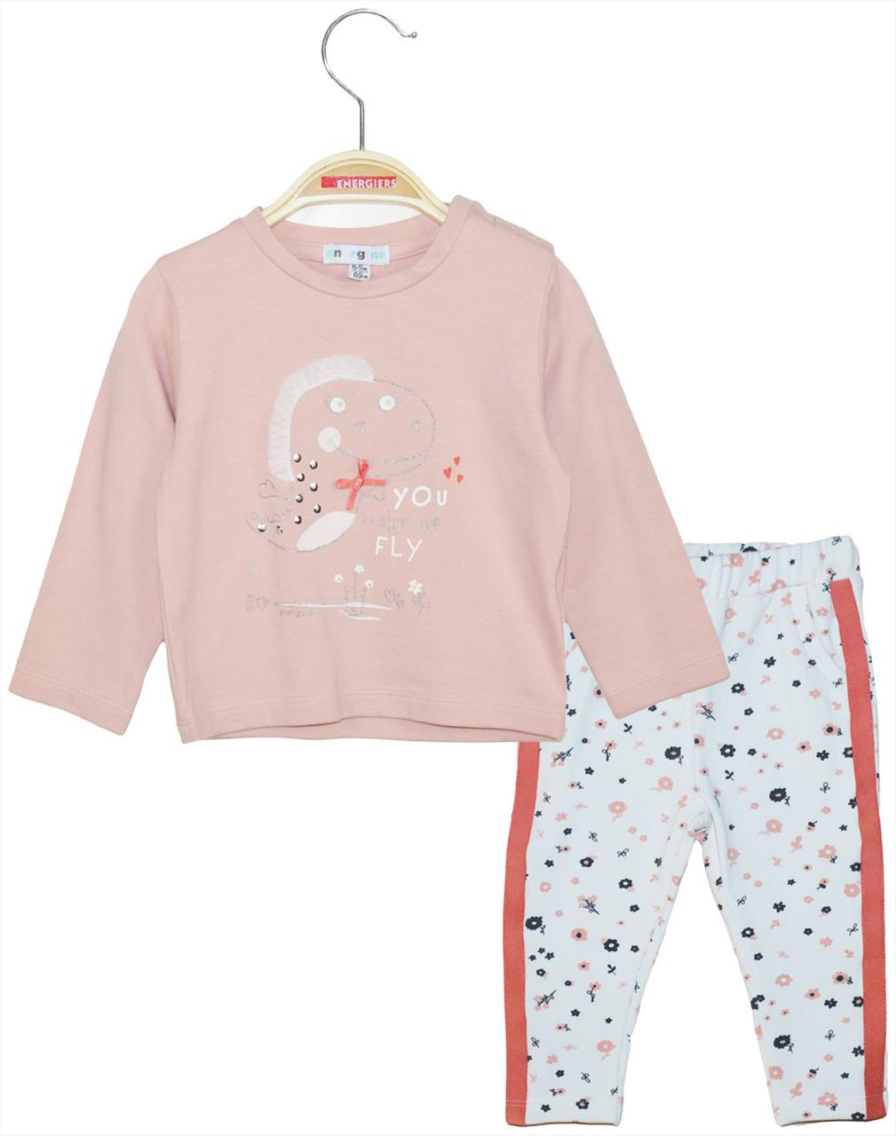 SET COTTON M/M FLORAL PANTS BABY GIRL  BY ENERGIERS